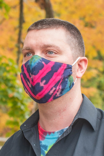 Tie Dye Face Cover with Filter Pocket