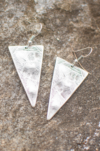 Triangle Power Zamak Earrings