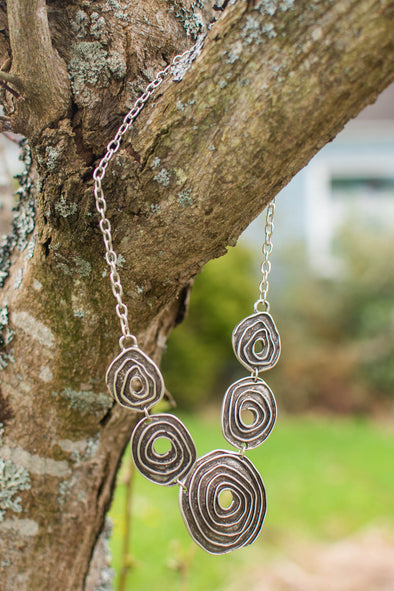 Tribal Spiral Zamak Necklace
