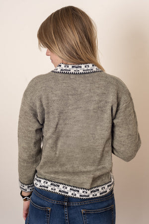 V-Neck Inca Sweater