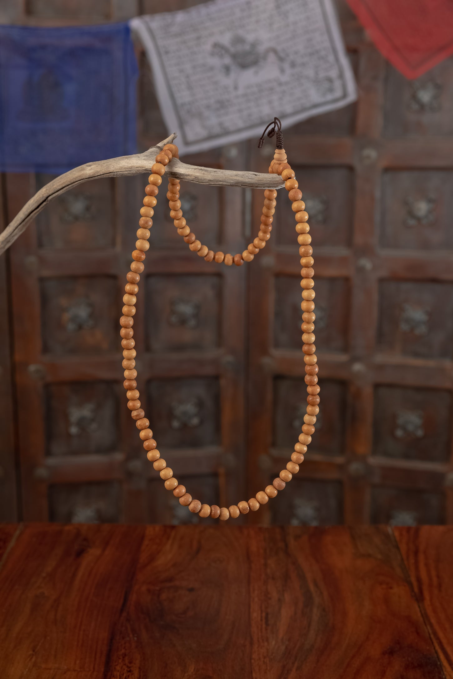 Wooden Bead Mala Necklace