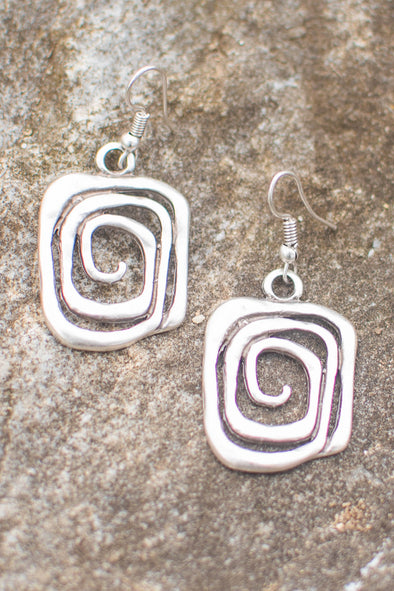 Zamak Labyrinth Earrings