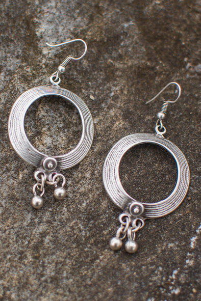 Zamak Orbital Charm Earrings