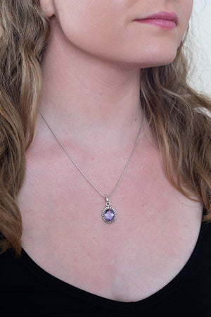 Faceted Dot Setting Pendant - Mexicali Blues