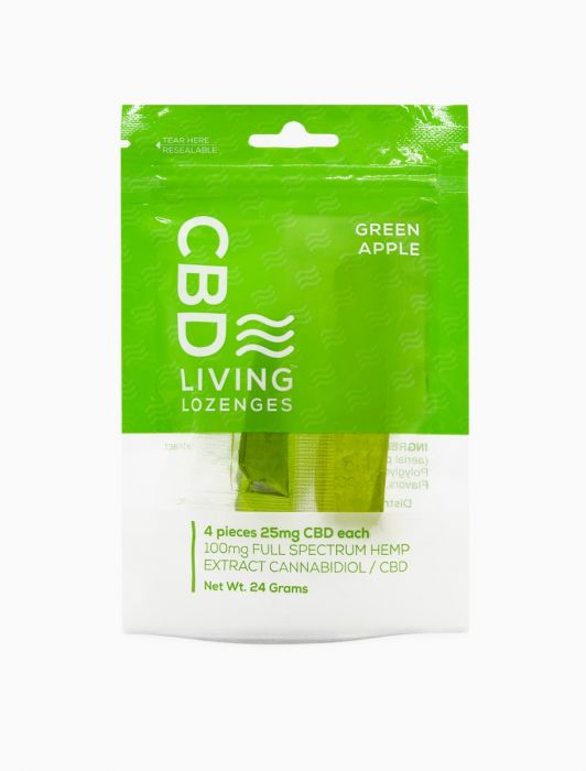 CBD Living Lozenges Bag Green Apple - 100mg