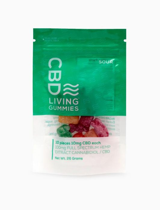 CBD Living Sour Gummies Bag - 100mg