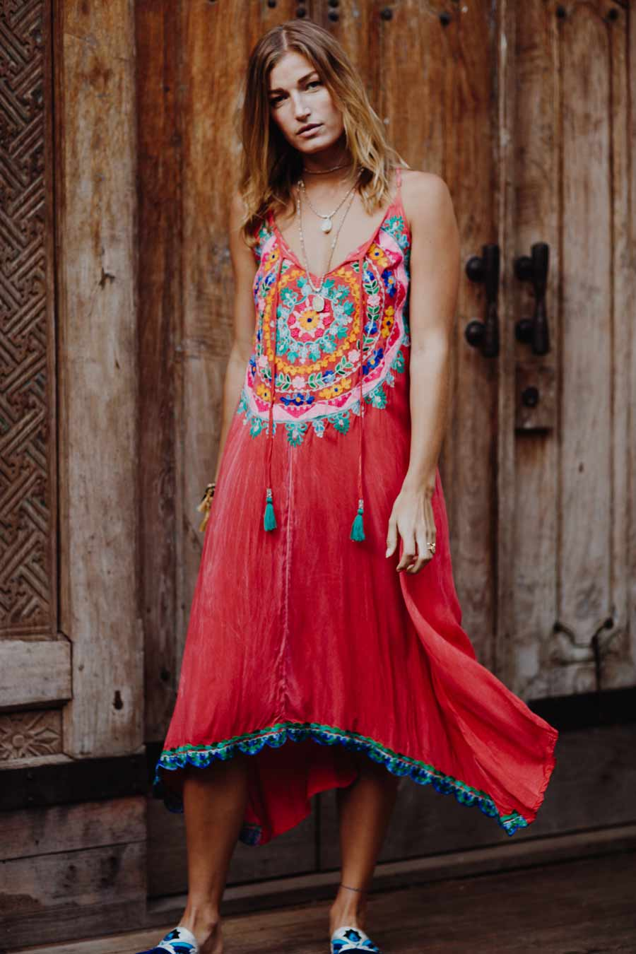 Botanica Maxi Red Dress