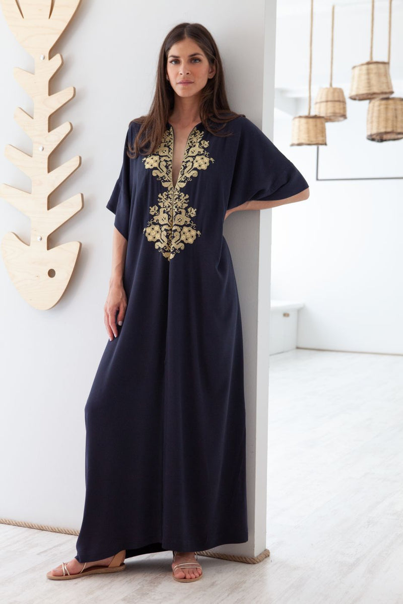 Astypalaia Embroidered Maxi Kaftan
