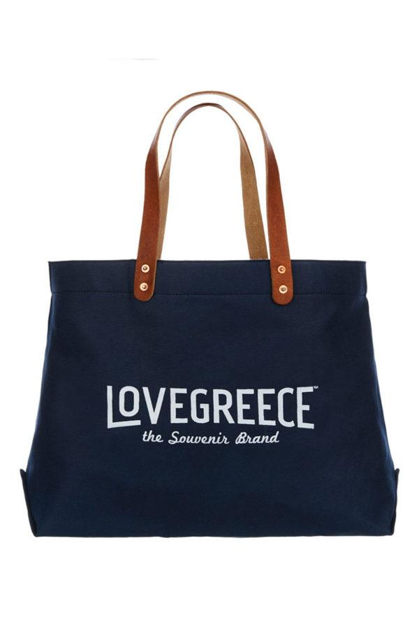 The Lovegreece Bag™ / Navy Blue – White