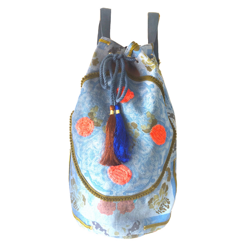 Boho Backpack Blue