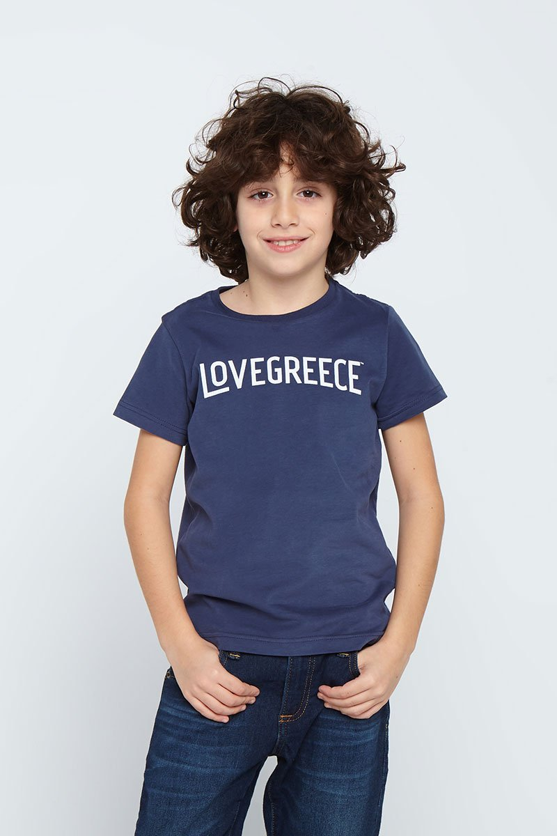 The Lovegreece T-Shirt™ – Kids / Navy