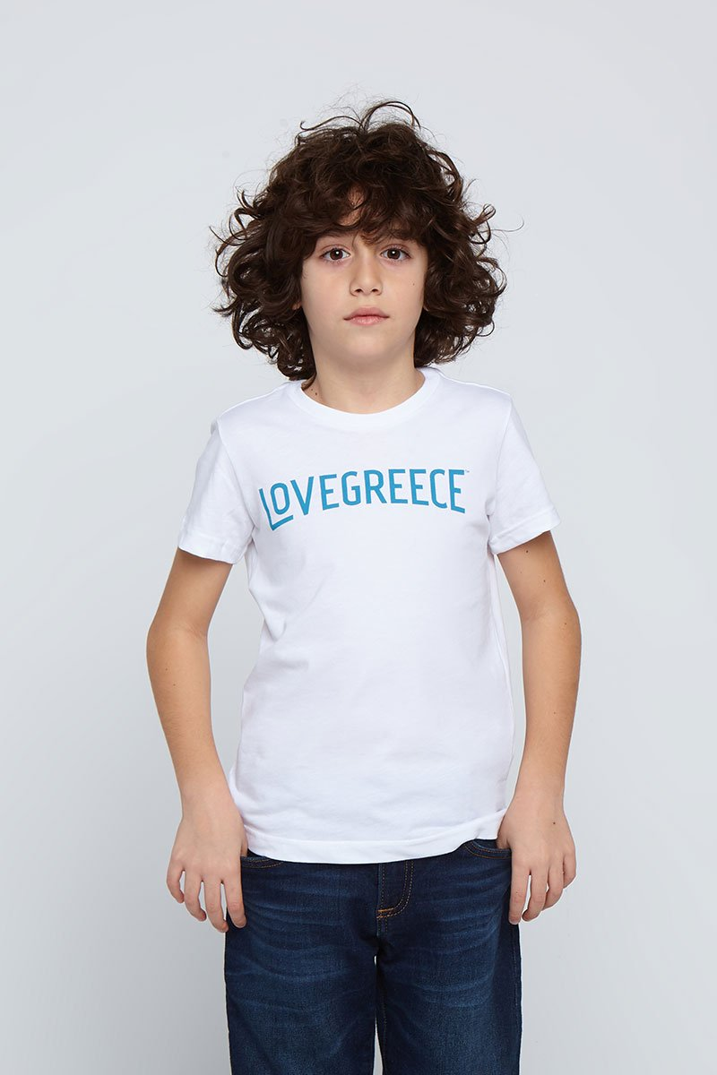 The Lovegreece T-Shirt™ – Kids / White