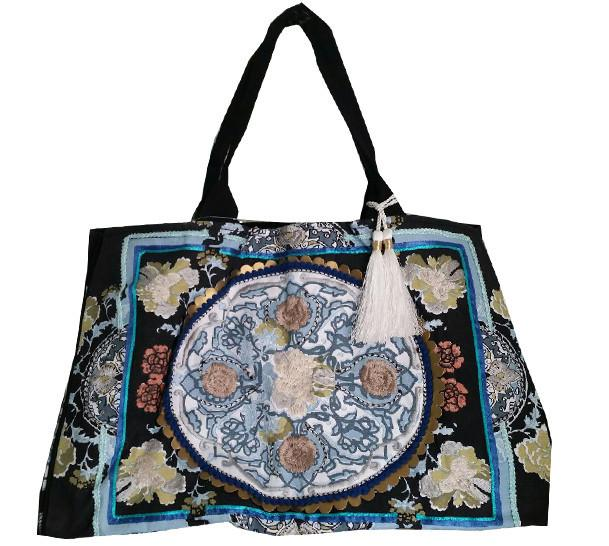 Boho Beach Bag Black