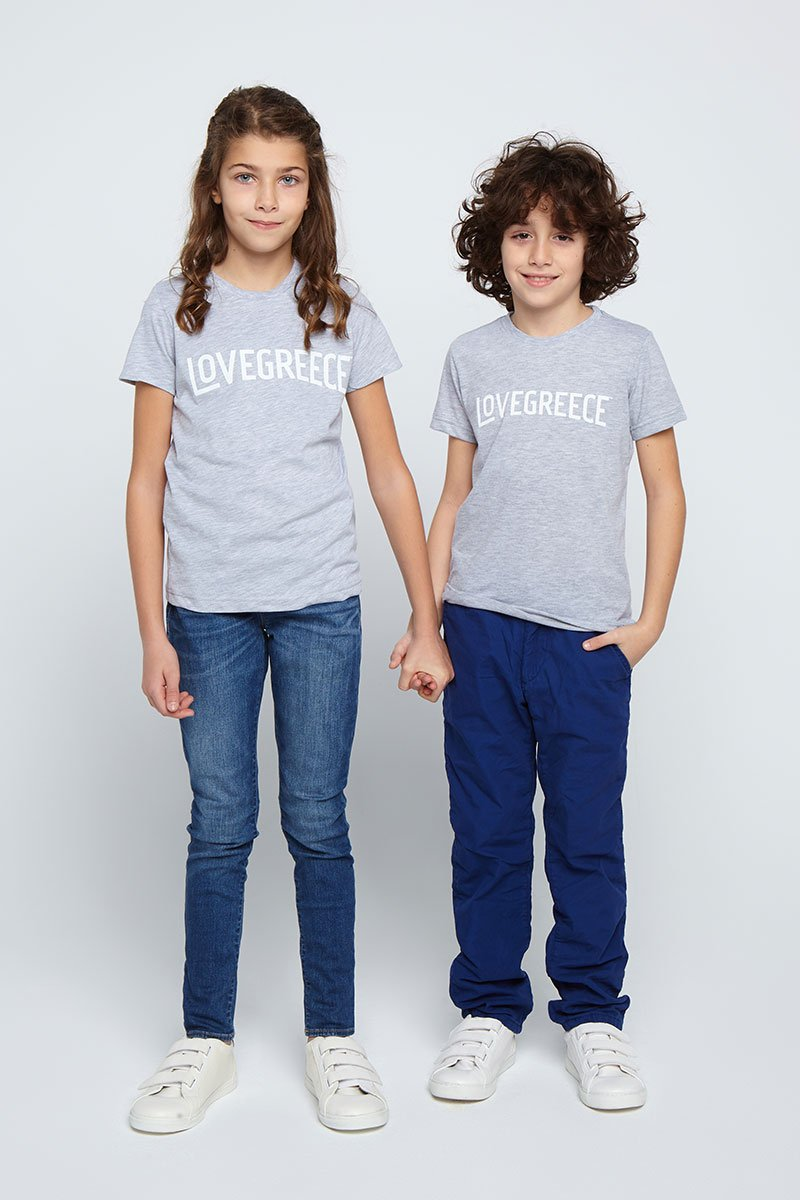 The Lovegreece T-Shirt™ – Kids / Grey
