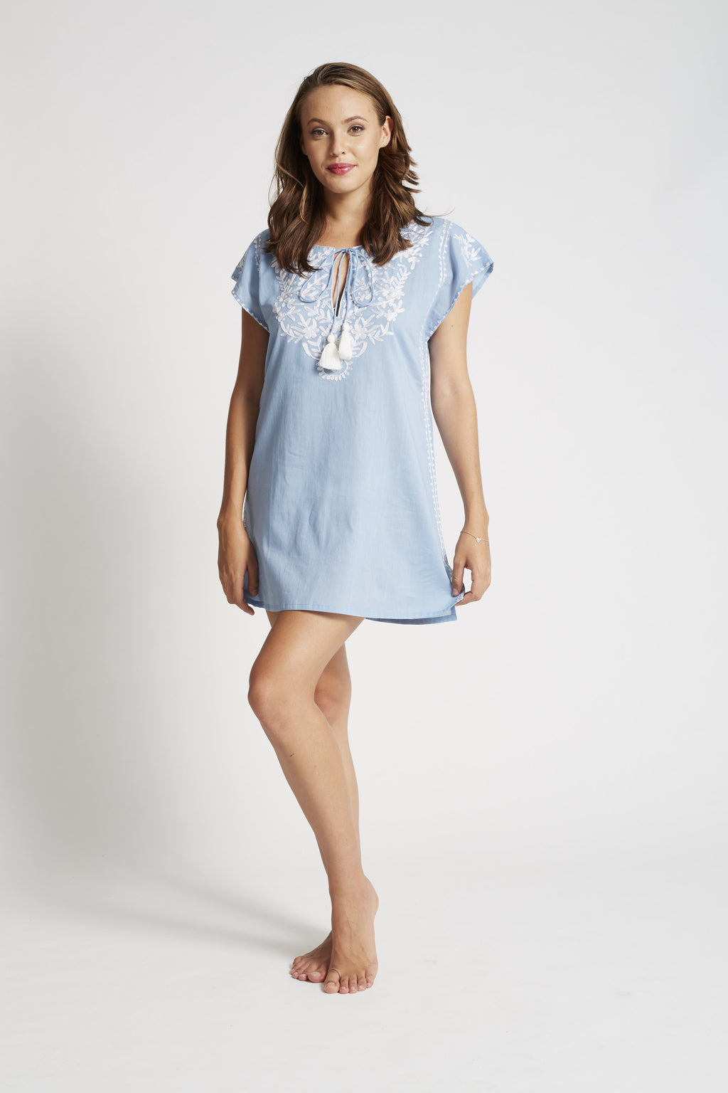 Gia Tunic Denim White