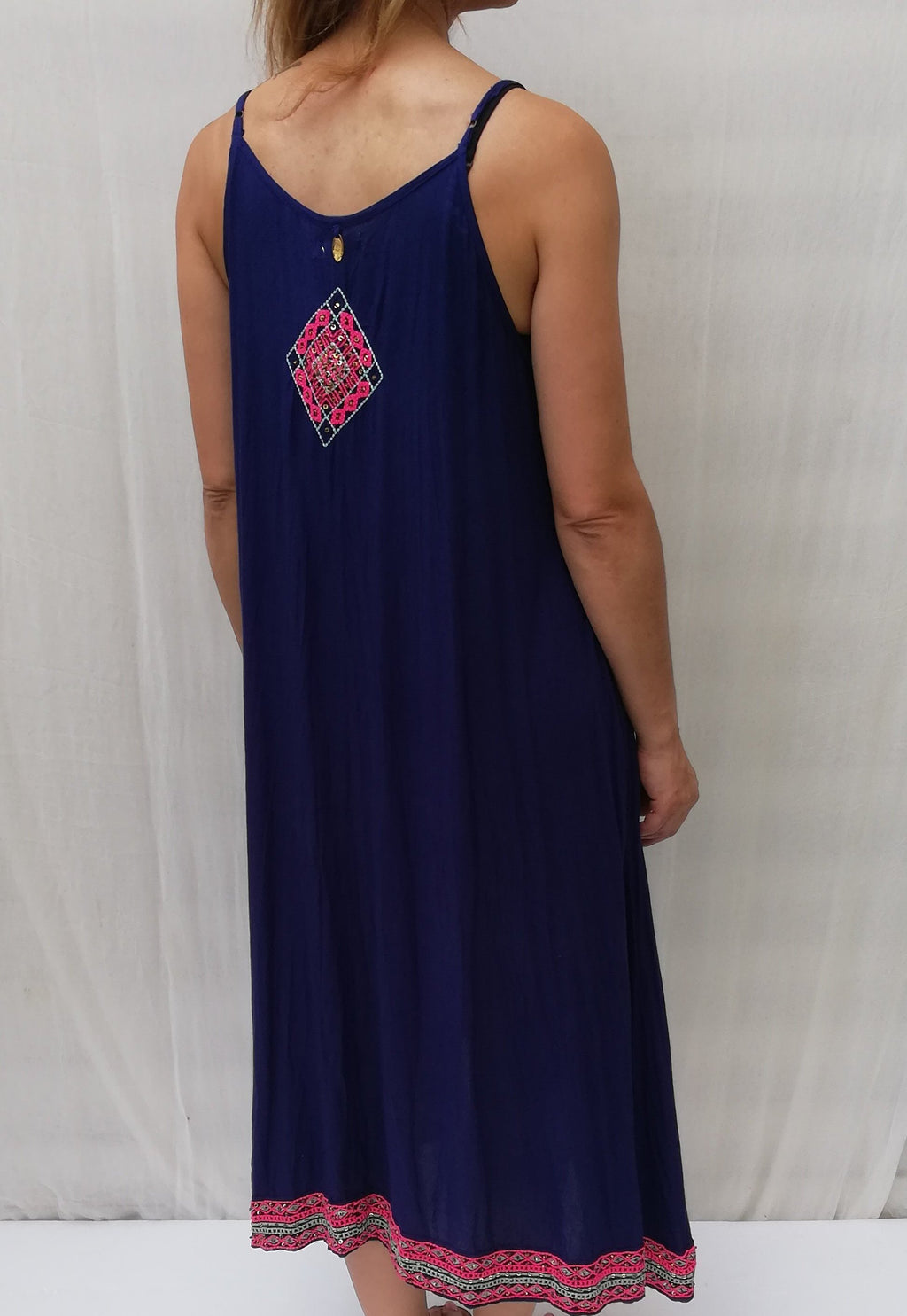 Mirror Dress Navy