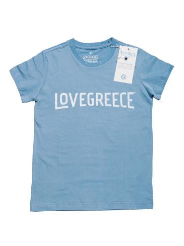 The Lovegreece T-Shirt™ – Kids / Greek Blue