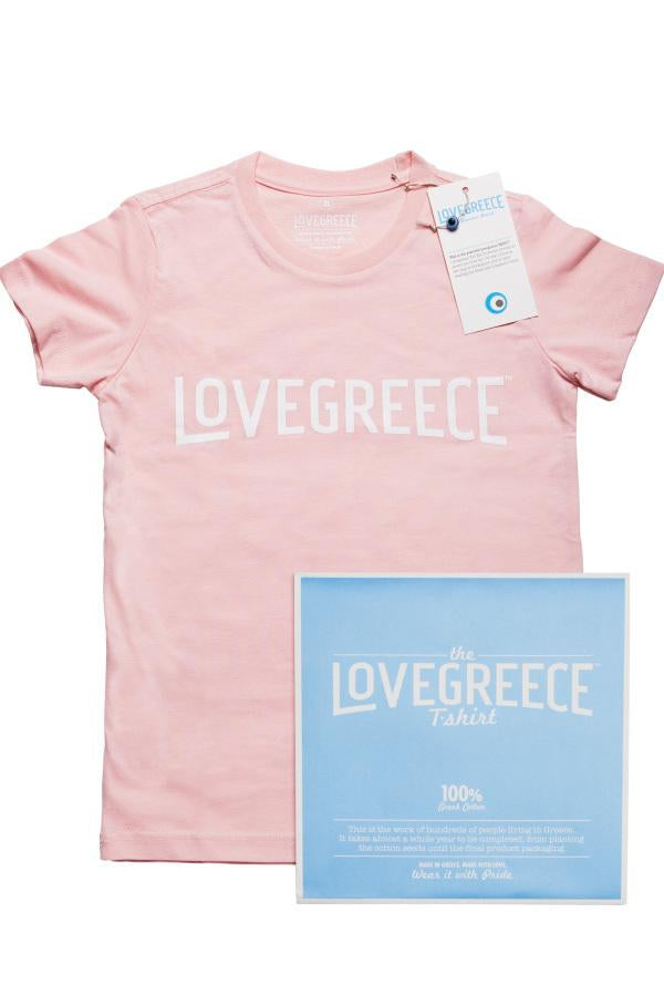 The Lovegreece T-Shirt™ – Kids / Pink