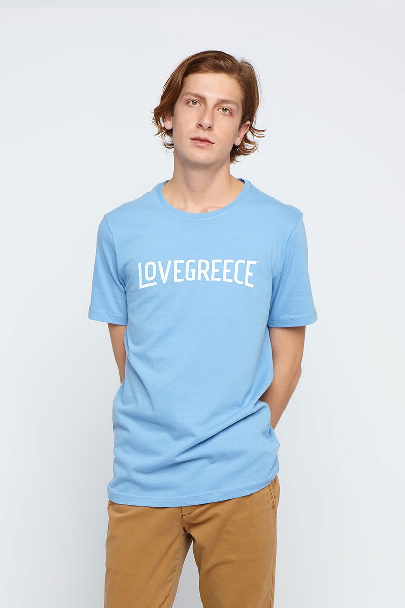 The Lovegreece T-Shirt™ – Men / Greek Blue