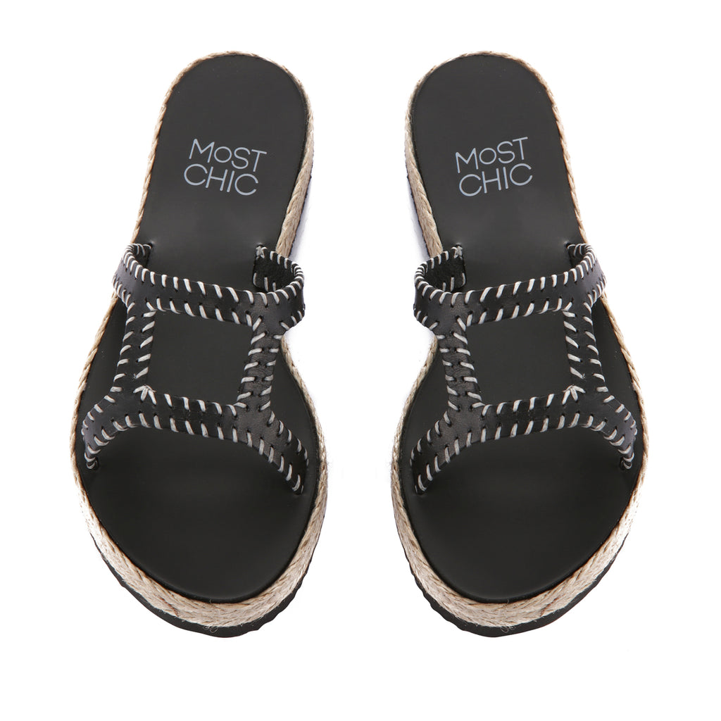 New Lotus Platform Stitches Black