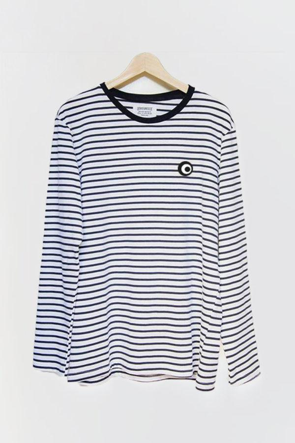 The Lovegreece T-Shirt™ – Women / Breton Stripe-Long