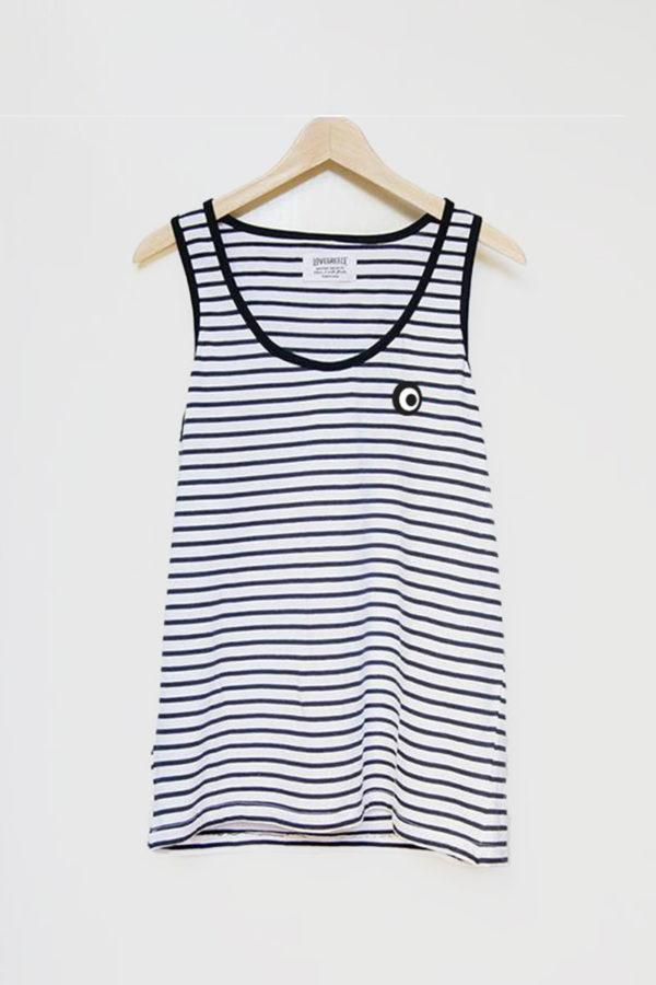 The Lovegreece T-Shirt™ – Women / Breton Stripe-Tank