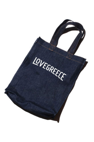 Lovegreece Denim Tote / Blue
