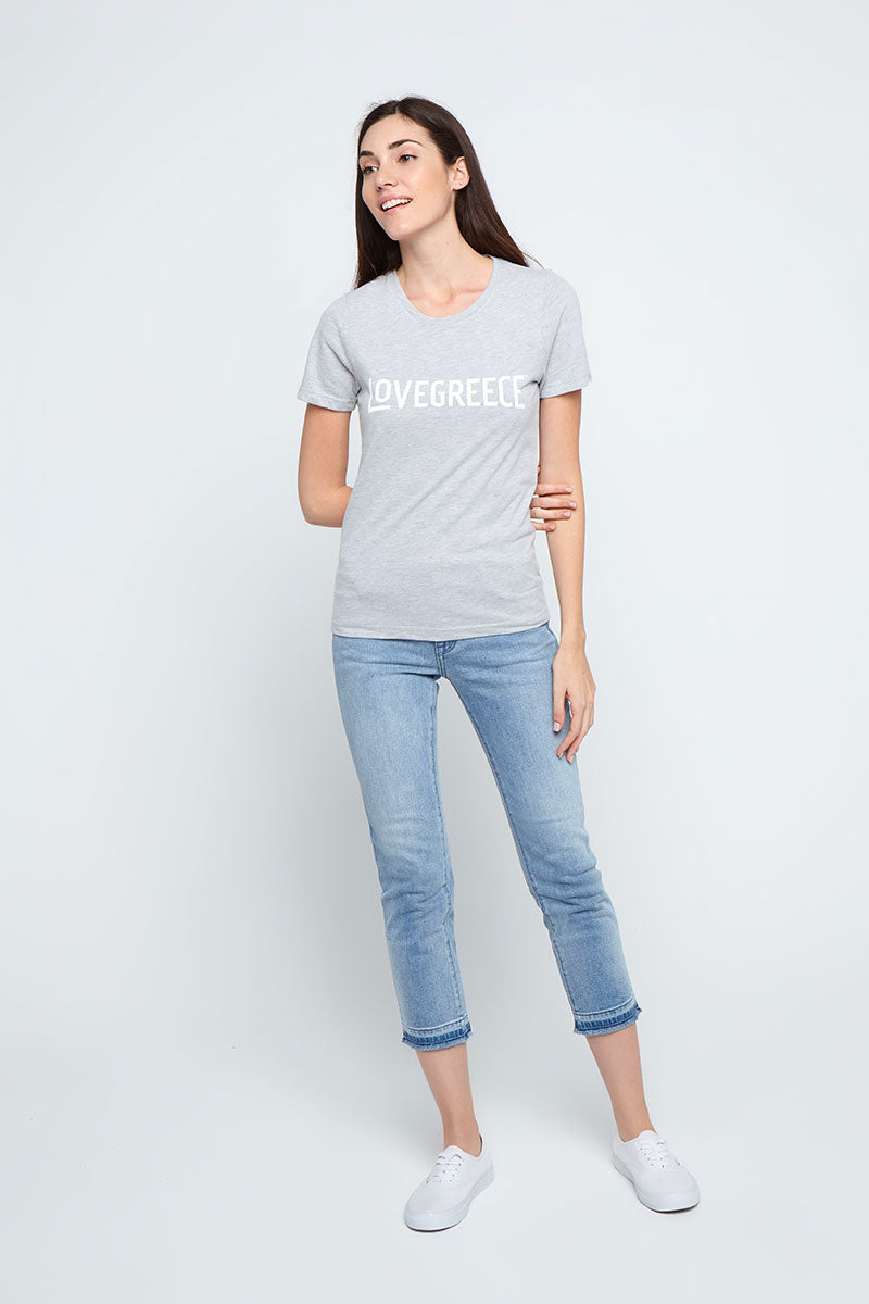 The Lovegreece T-Shirt™ – Women / Grey