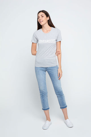 The Lovegreece T-Shirt™ - Women / Greek Blue
