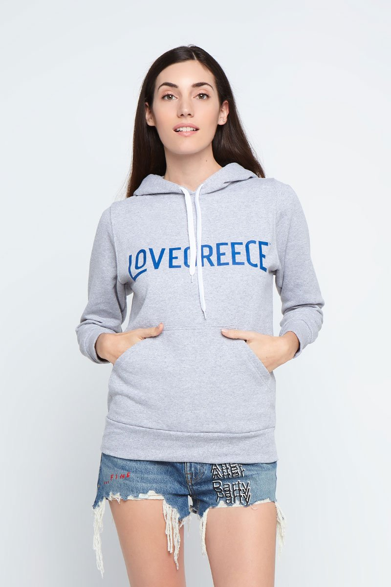 The Lovegreece Hoodie™ – Women / Hoodie – Grey