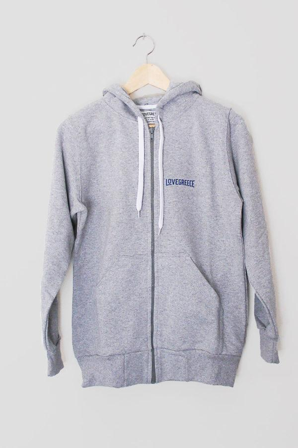 The Lovegreece Hoodie™ – Women / Zip – Grey