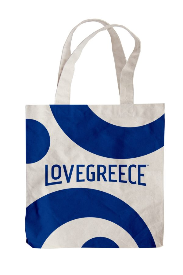 Lovegreece for Metaxa Canvas Tote / Blue