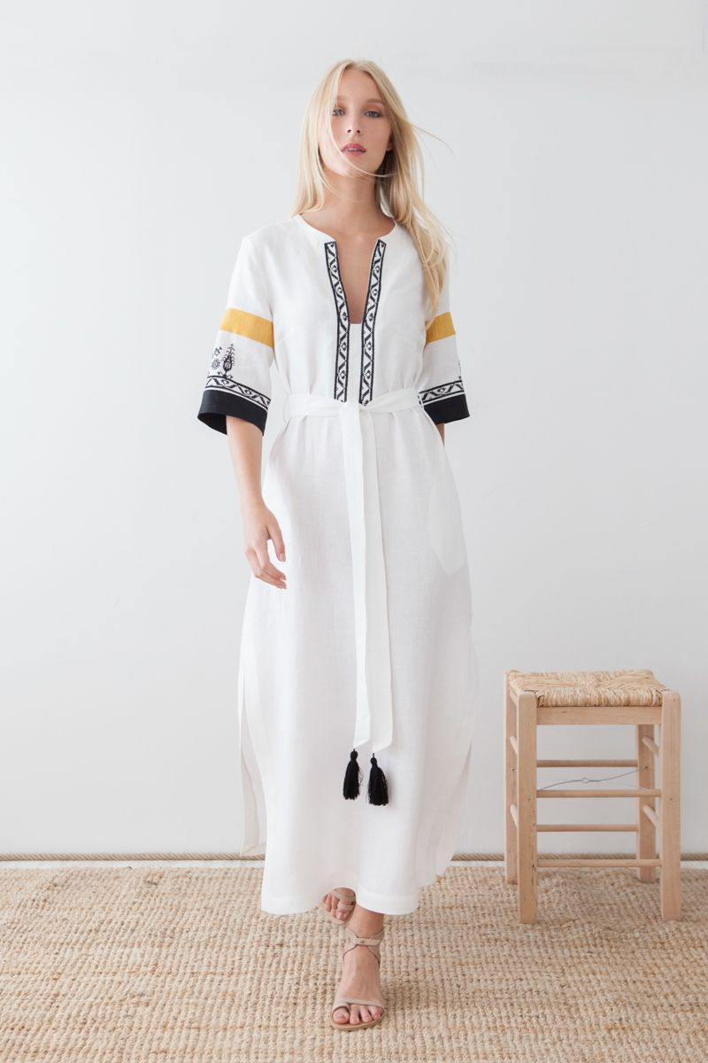 Semeli Embroidered Long Dress