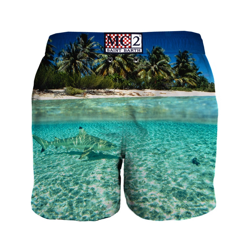 PHOTOGRAPHIC SWIM SHORT TROPICAL