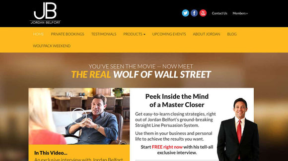 Jordan Belfort (Wolf of Wall Street) – Straight Line Persuasion Course
