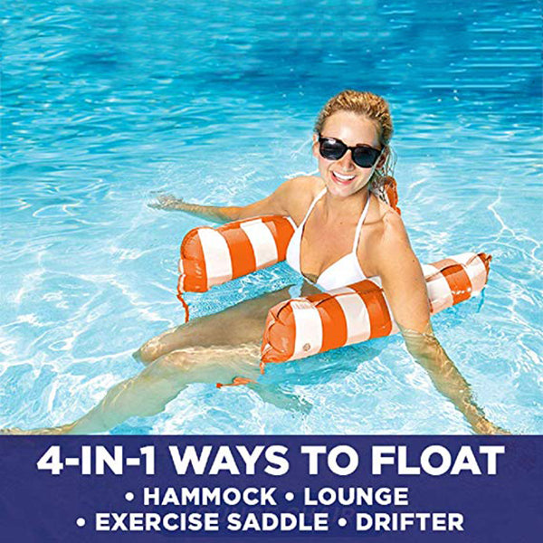 4-in-1 Multi-Purpose Inflatable Hammock  Portable Pool Float