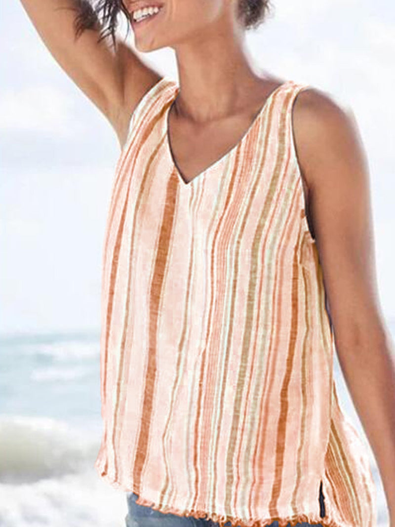 Multicolor Casual V Neck Shirts & Tops