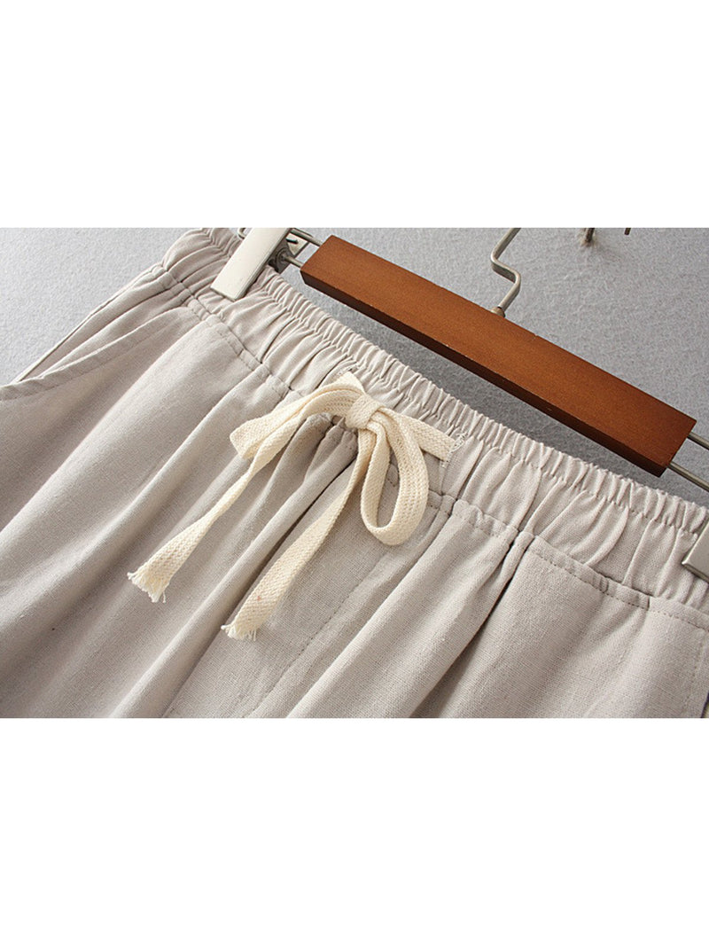 Women Casual  Cotton Linen Loose Pants
