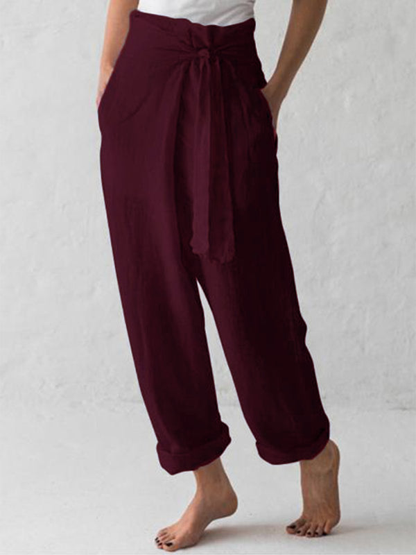 Cotton-Blend Linen & Cotton Bottoms