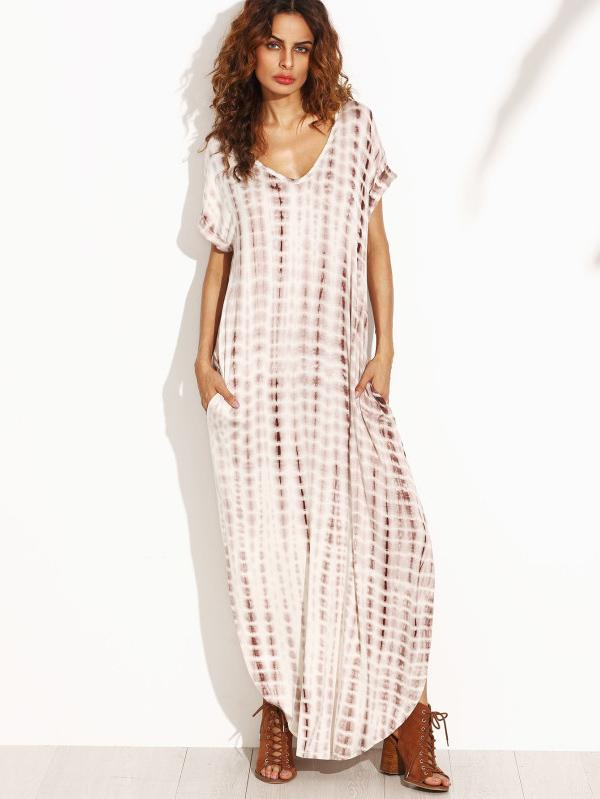Printed Split-side Maxi Dresses