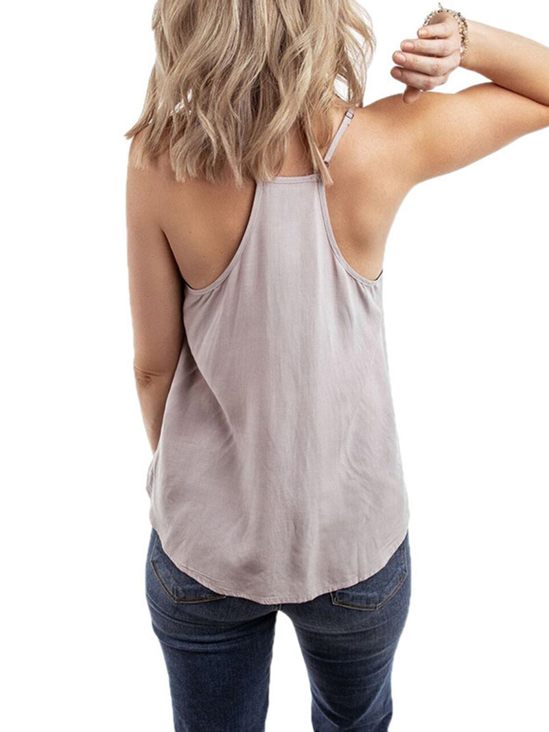 V Neck Sleeveless Shirts & Tops