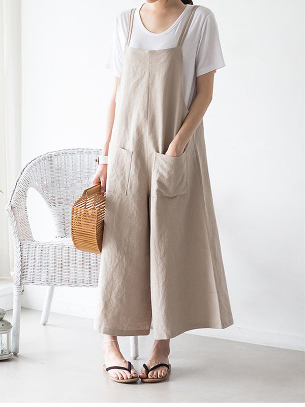Women Loose Comfortbale cotton Jumpsuit