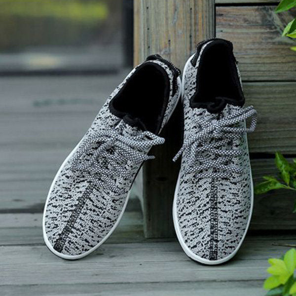 Breathable Mesh Lace Up Height Increasing Sport Platform Casual Shoes