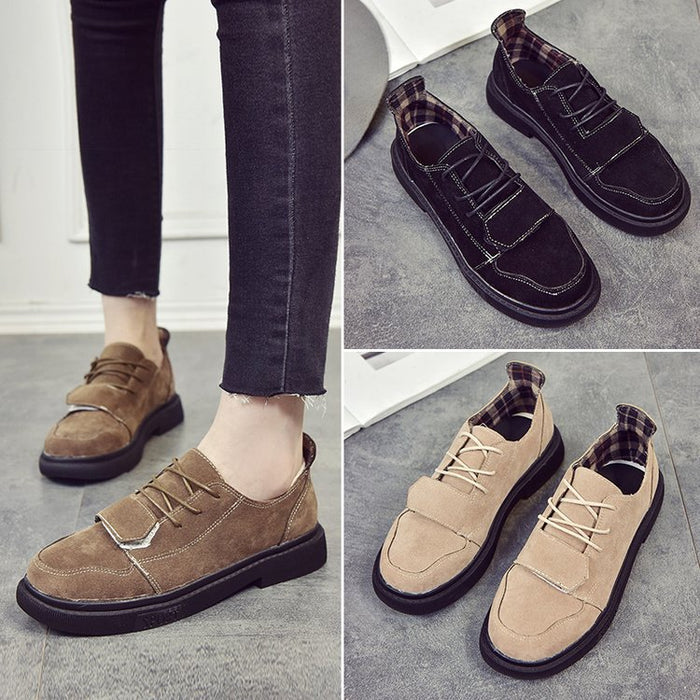 18aa8188fc Flocking Magic Tape Women Lace-Up Sneakers – NORACORA