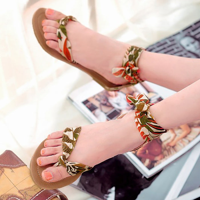 Fashion Strappy Top Post Flat Sandals