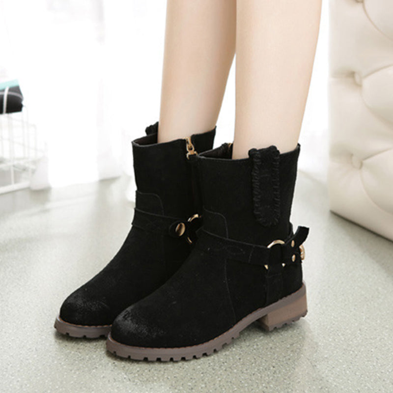 Brown Artificial Leather Spring/Fall Casual Boots
