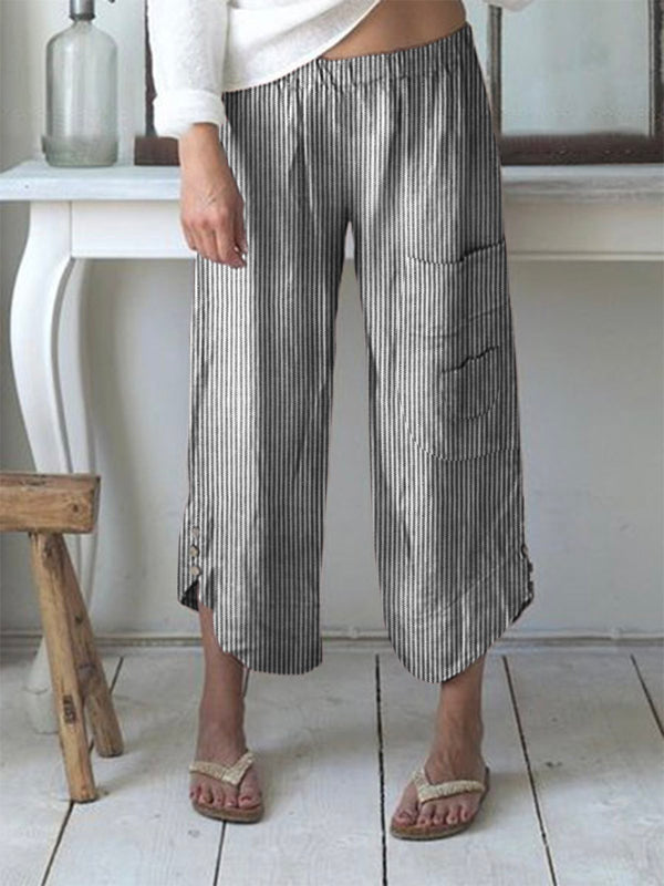 Women Summer Stripes Boho Pants