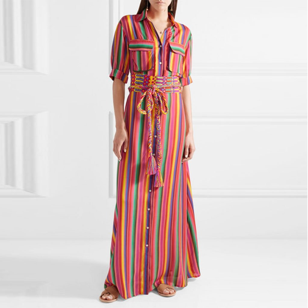 Online button down collar roll up sleeve half sleeve maxi dresses online south