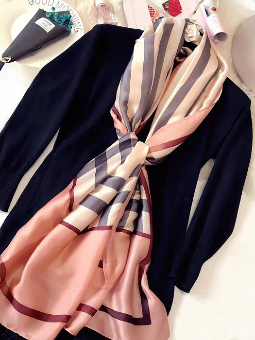 Checkered/Plaid Polyester Casual Scarf