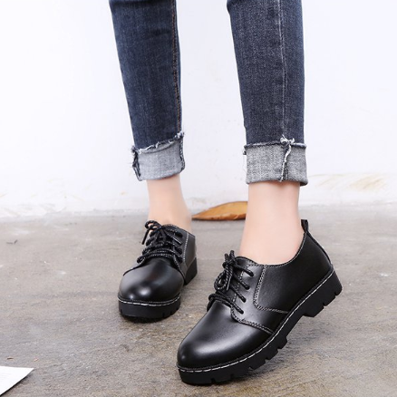 Women Casual Spring/Fall Lace-up Suede/PU Flat Heel Boots
